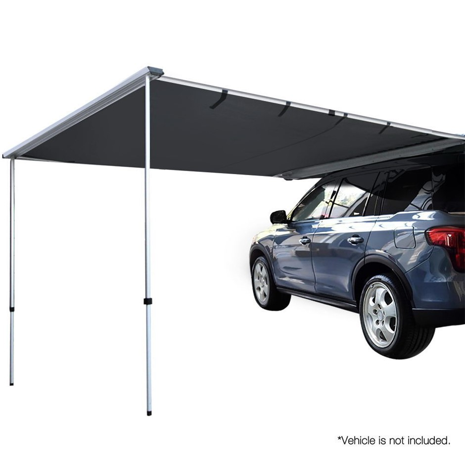 Weisshorn 2.5M X 3M Car Shade Awning 2.5 x 3M - Charcoal Black