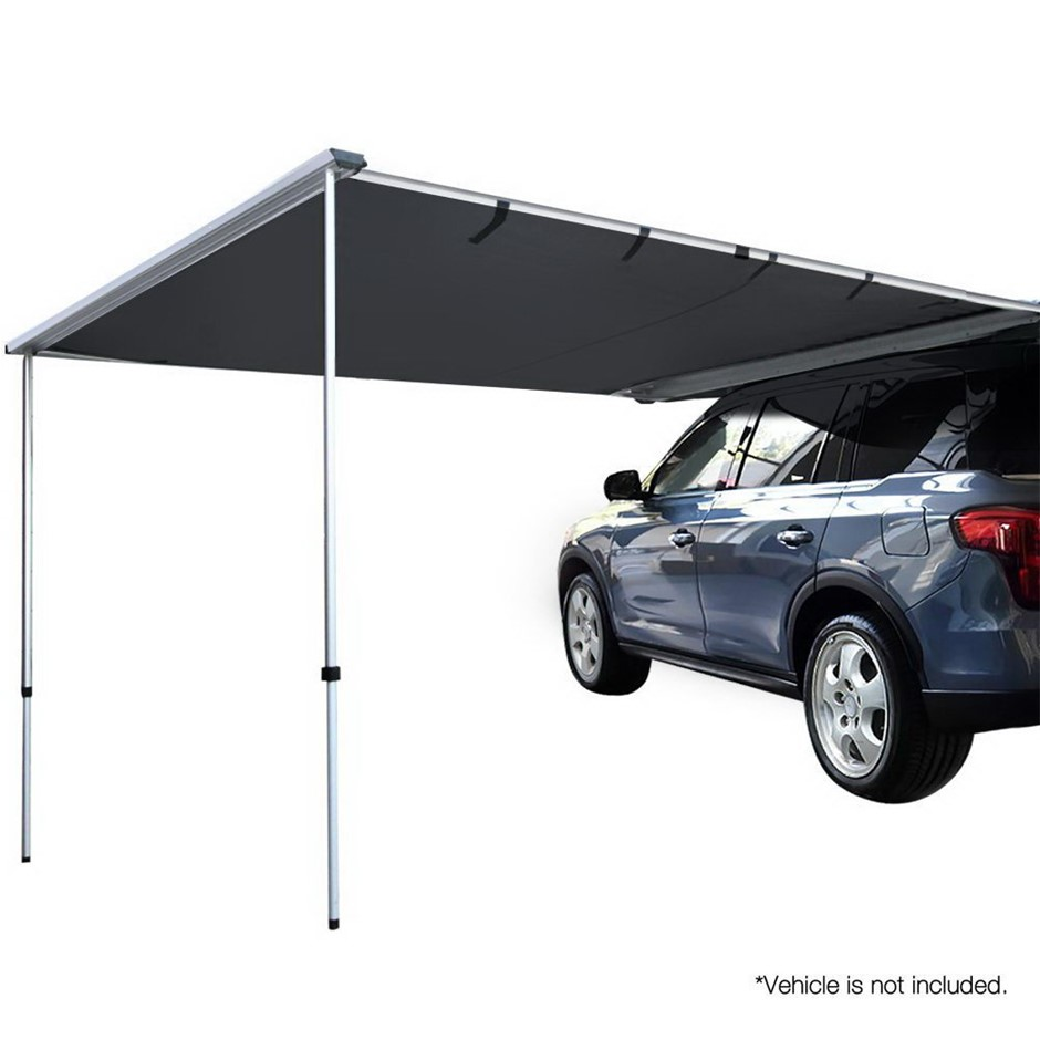 Weisshorn 3X3M Side Roof Car Awning Extension with - Charcoal