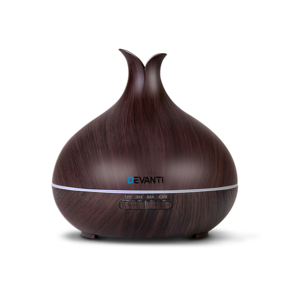 DEVANTi Aromatherapy Diffuser LED Oil Air Humidifier Purifier 400ml