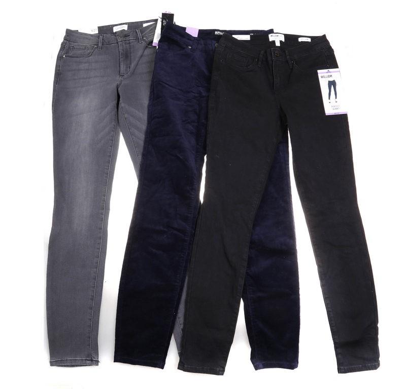 3 x Assorted Women`s Jeans Comprising; WILLIAM RUST, JESSICA SIMPSON & DAVI