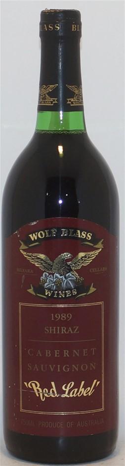 Wolf Blass `Red Label` Shiraz Cabernet Sauvignon 1989 (1x 750mL), SEA
