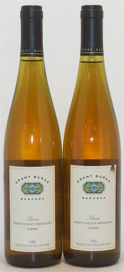Grant Burge `Thorn` Riesling 2000 (2x 750mL), Eden Valley. Cork.