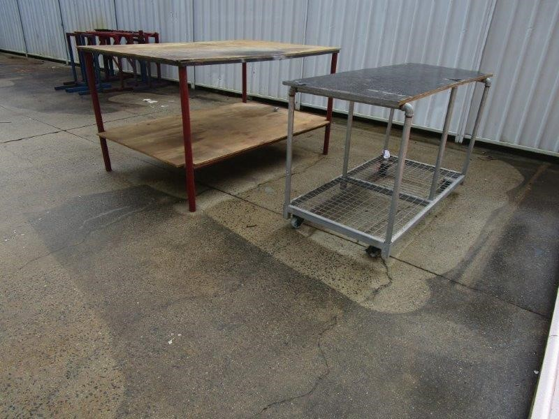 2x Fabricated Work Benches
