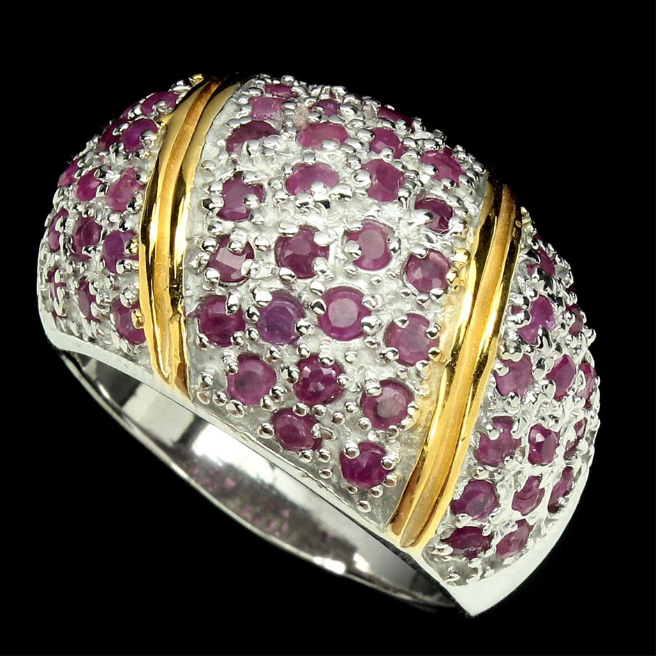 Genuine Ruby Dome Ring.