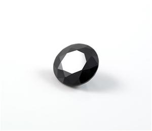 0.91ct Round brilliant cut natural black