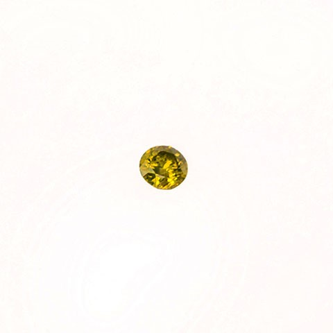 0.27ct Round brilliant cut yellow diamond