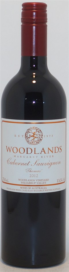 Woodlands `Thomas` Cabernet Sauvignon 2012 (1x 750mL), Margaret River