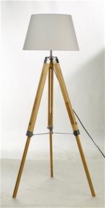 Modern Floor Lamp Wood Tripod Home Bedro
