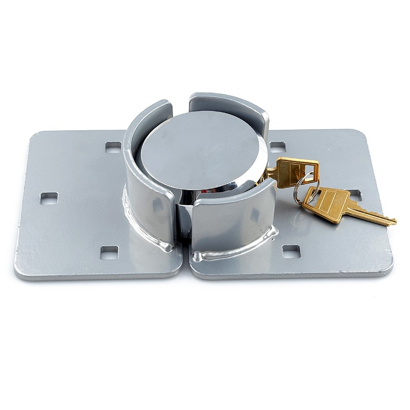 Van Door Lock With Brackets - Heavy Duty Security Vehicle Hasp Padlock
