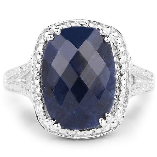 Big Bold 8.35ct Genuine Sapphire Statement Ring.