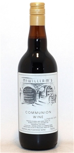 McWilliam`s Fortified Communion Wine NV