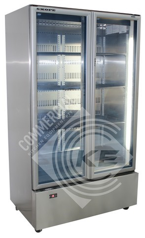 SKOPE GEN UPRIGHT 2 DOOR GLASS FRIDGE, QUALITY COMMERCIAL KITCHEN E