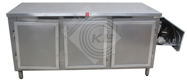 CUSTOM MADE 3 DOOR COUNTER TOP FRIDGE , QUALITY COMMERCIAL KITCHEN