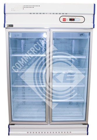 POLARIZ UPRIGHT DOUBLE DOOR DISPLAY FREEZER, QUALITY COMMERCIAL KIT
