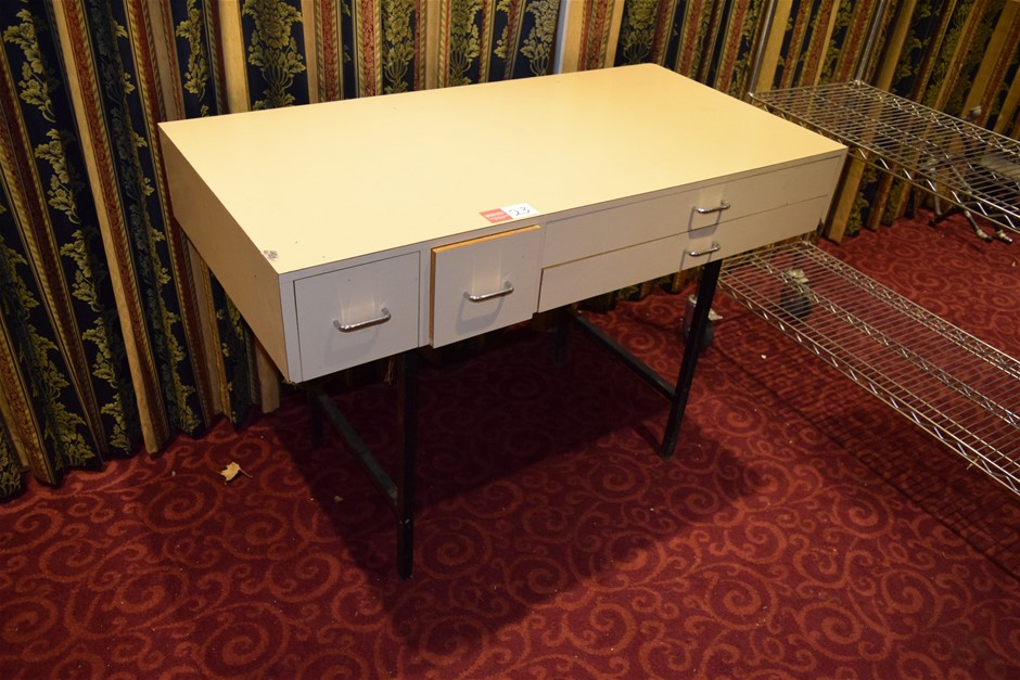 4 Drawer Laminate Cabinet on Steel Legs