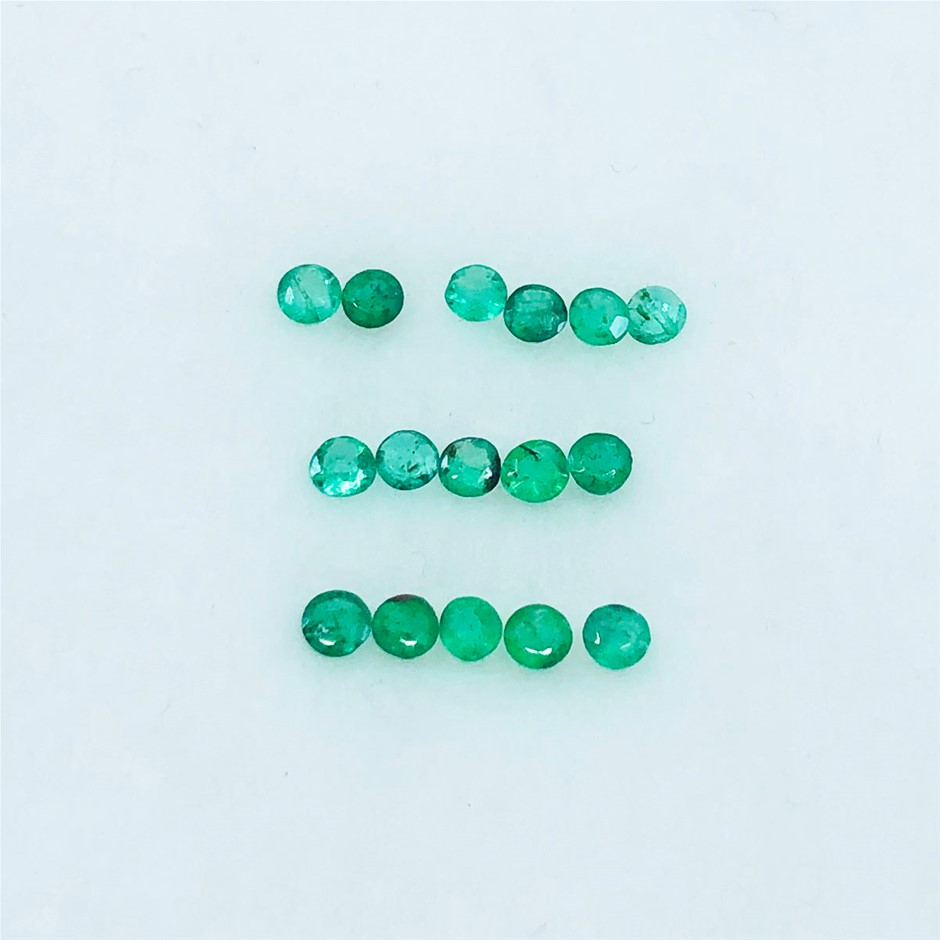 1.02 ct - Parcel of Round Cut Natural Emerald