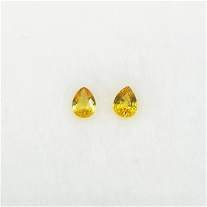 0.31 ct - 2 Pcs of Pear Cut Yellow Sapph