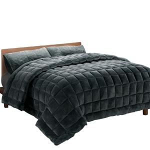 Giselle Bedding Faux Mink Quilt Fleece T
