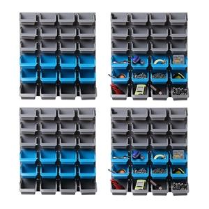 Giantz 96 Storage Bin Rack Wall-Mounted
