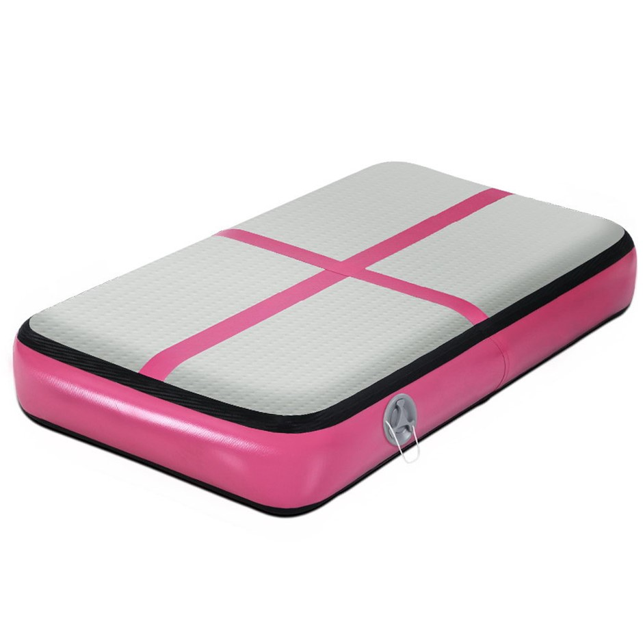 Everfit 1M Airtrack Inflatable Air Track Board Tumbling Mat Gymnastics Pink