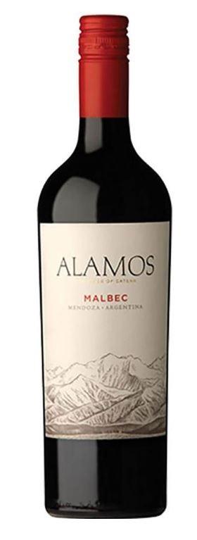 Bodega Catena Zapata 'Alamos' Malbec 2018 (12 x 750mL), Mendoza, Argentina.