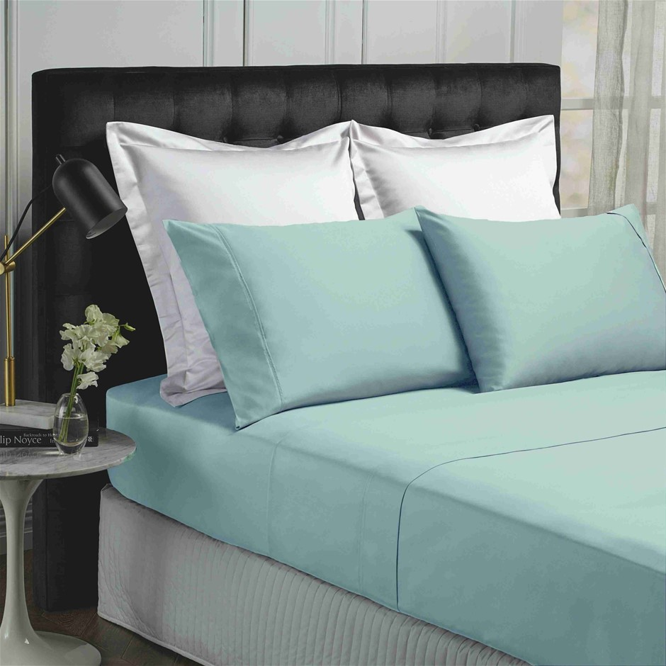 Park Avenue 500 Thread count Cotton Bamboo Sheet Set - Queen - Blue Fog