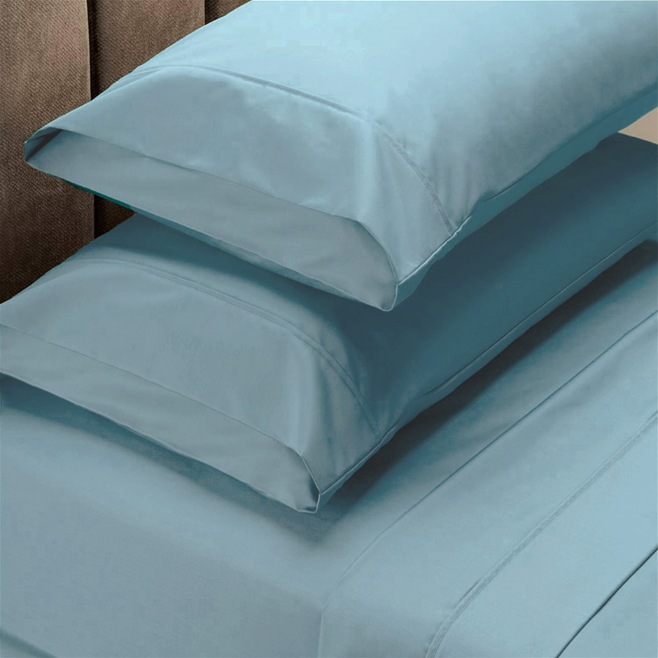 Renee Taylor 1500 Thread Count Cotton Blend Sheet Set - King - Indigo