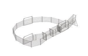 Cattle Yard 20 Head 50x50 Panel