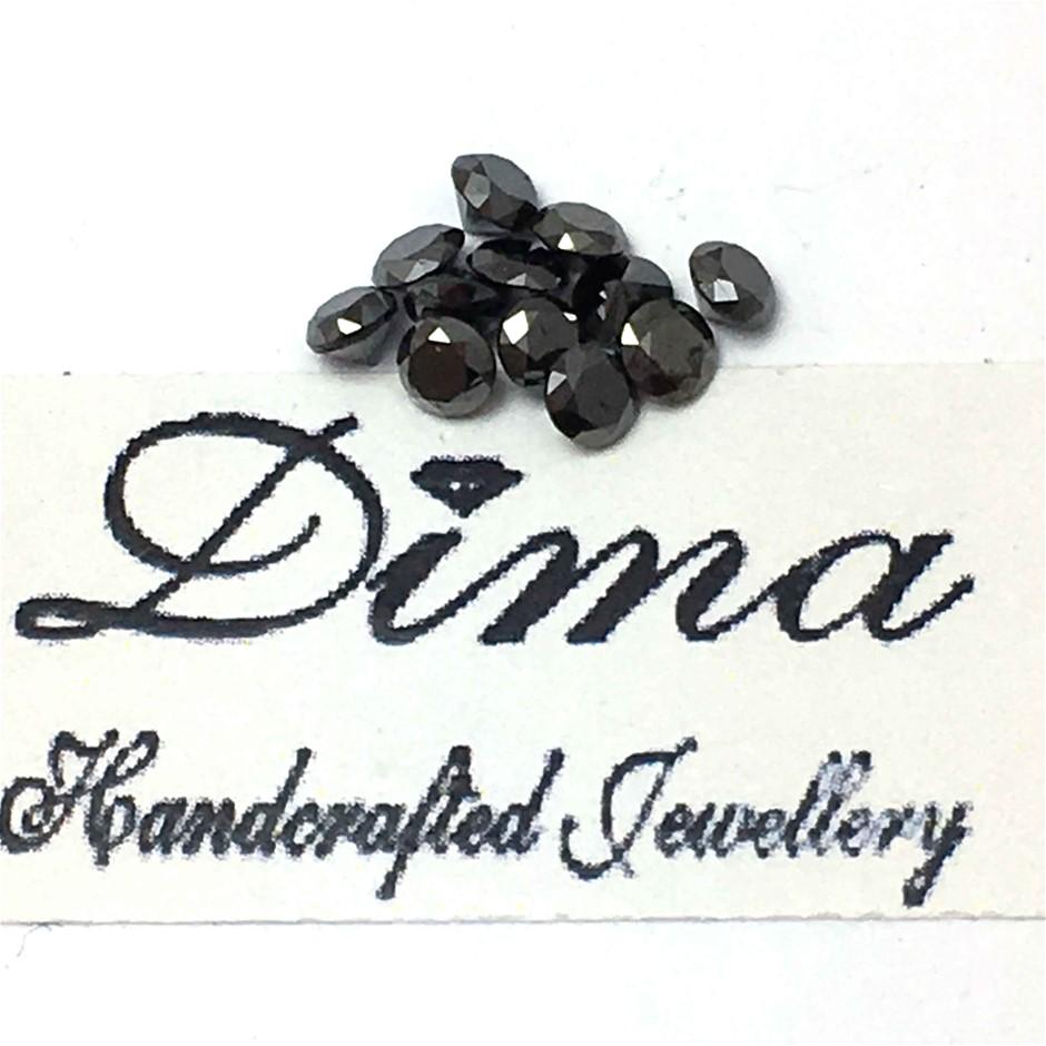 Twelve Stones Black Diamond Round 0.90ct