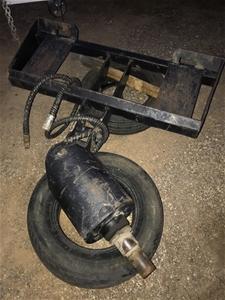 Auger Drive Unit on Skid Steer Frame