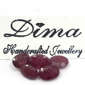 Five Stones Ruby Oval 3ct