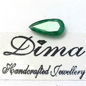 One Stone Emerald Pear 1.06ct