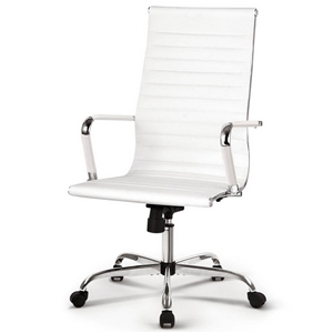 finest selection 3e9a2 54b18 Artiss Eames Replica Office Chairs PU Leather Executive Computer Seat White