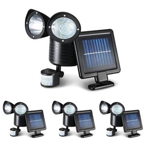 4X 22 LED Solar Powered Dual Light Secur