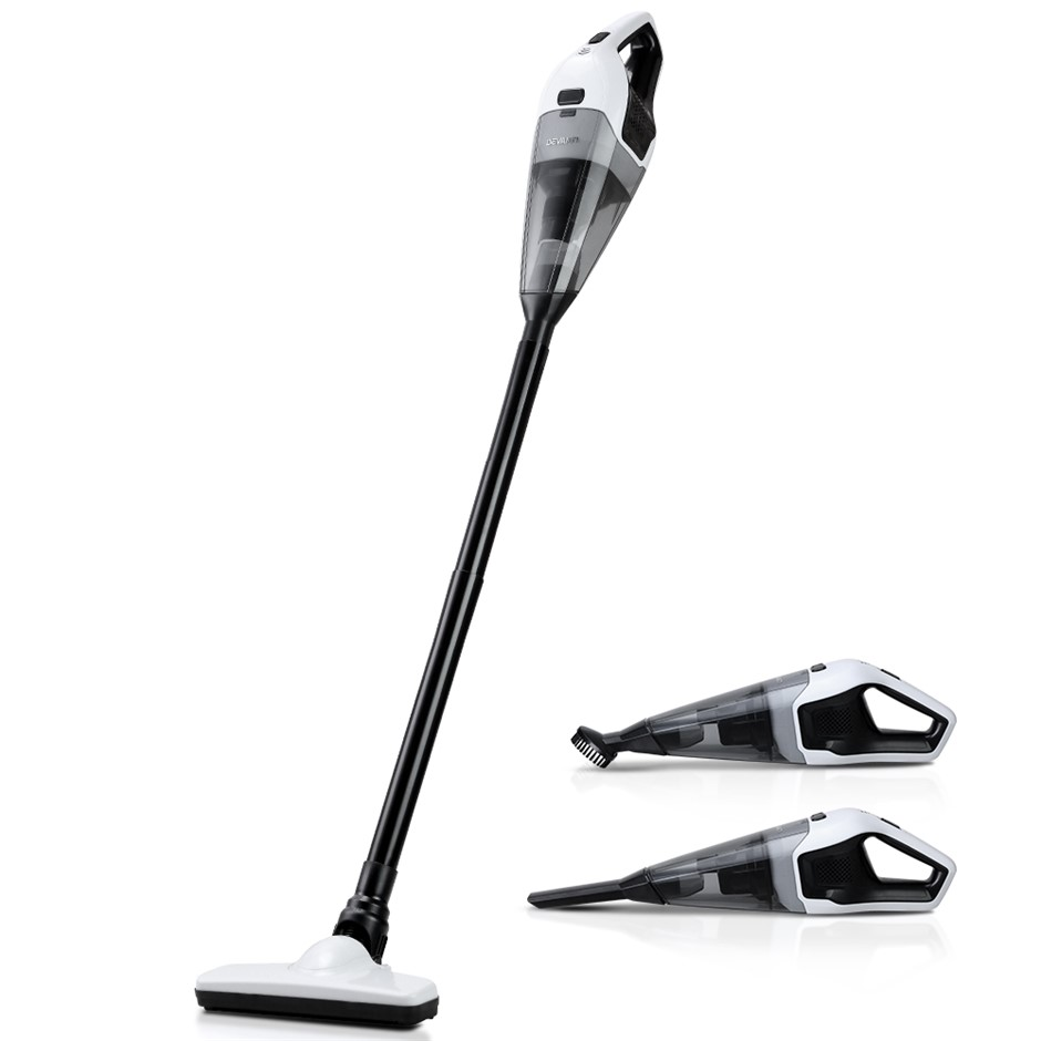 Devanti 120W Cordless Stick Vacuum Cleaner Handheld Bagless Black