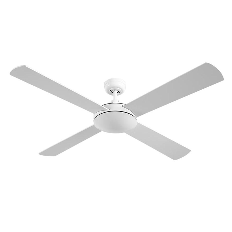 Devanti 52'' 1300mm Ceiling Fan Wall Control 4 Wooden Blades Fans Black