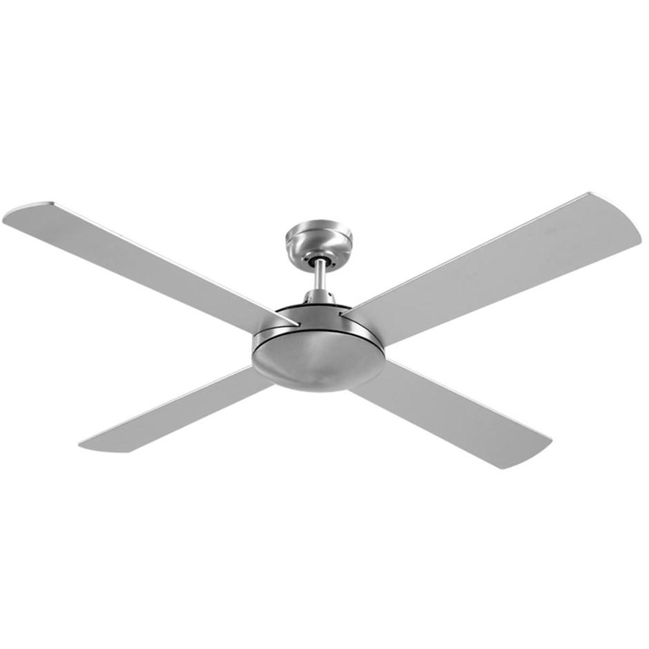 Devanti 52'' 1300mm Ceiling Fan 4 Wooden Blades w/Remote Fans Silver