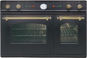 Ilve 90CM Nostalgie Double Oven Matt Bla