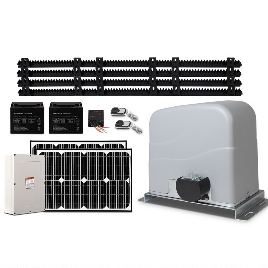 LockMaster 40w Solar Powered Electric Auto Sliding Gate Opener 1200kg 4M