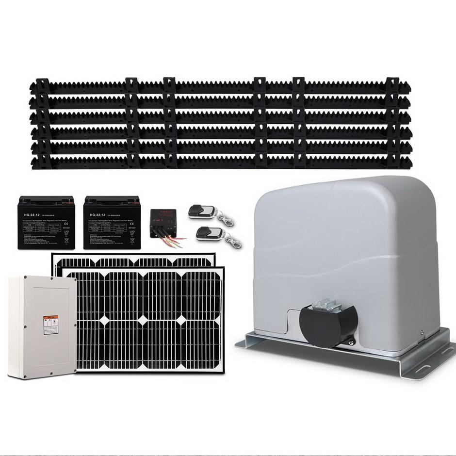 LockMaster 40w Auto Solar Sliding Gate Opener Elec 1200kg Remote Control