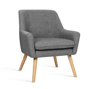 Artiss Fabric Dining Armchair - Grey