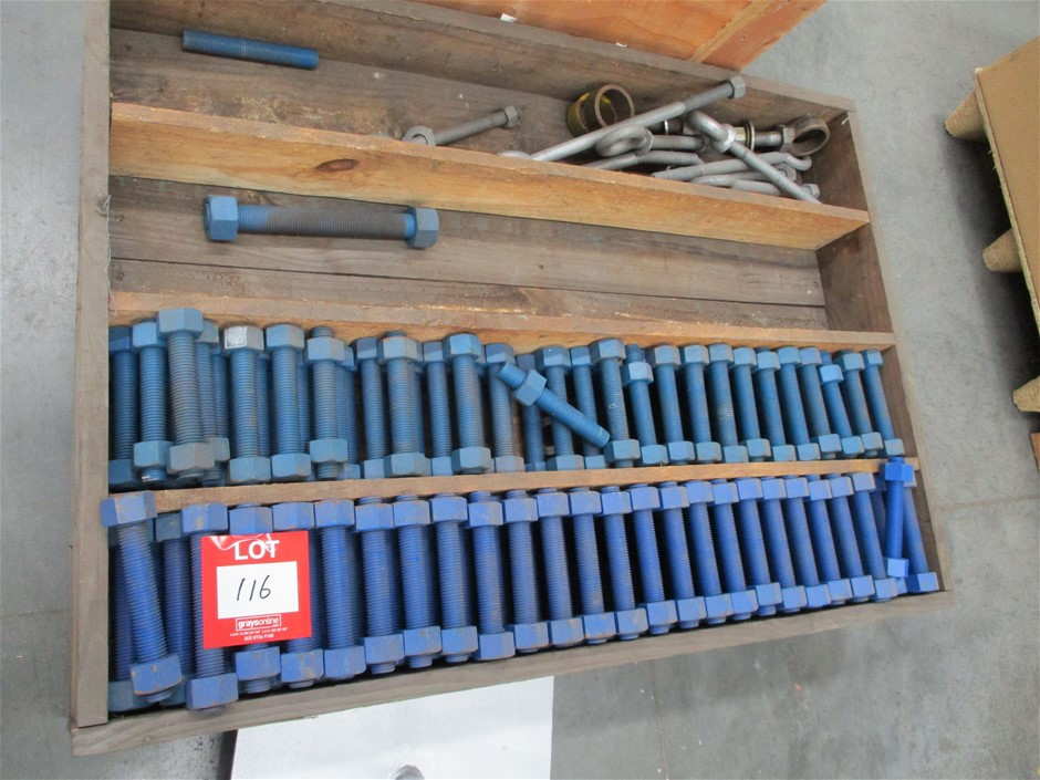 Pallet of All Thread Bolts with Nuts
