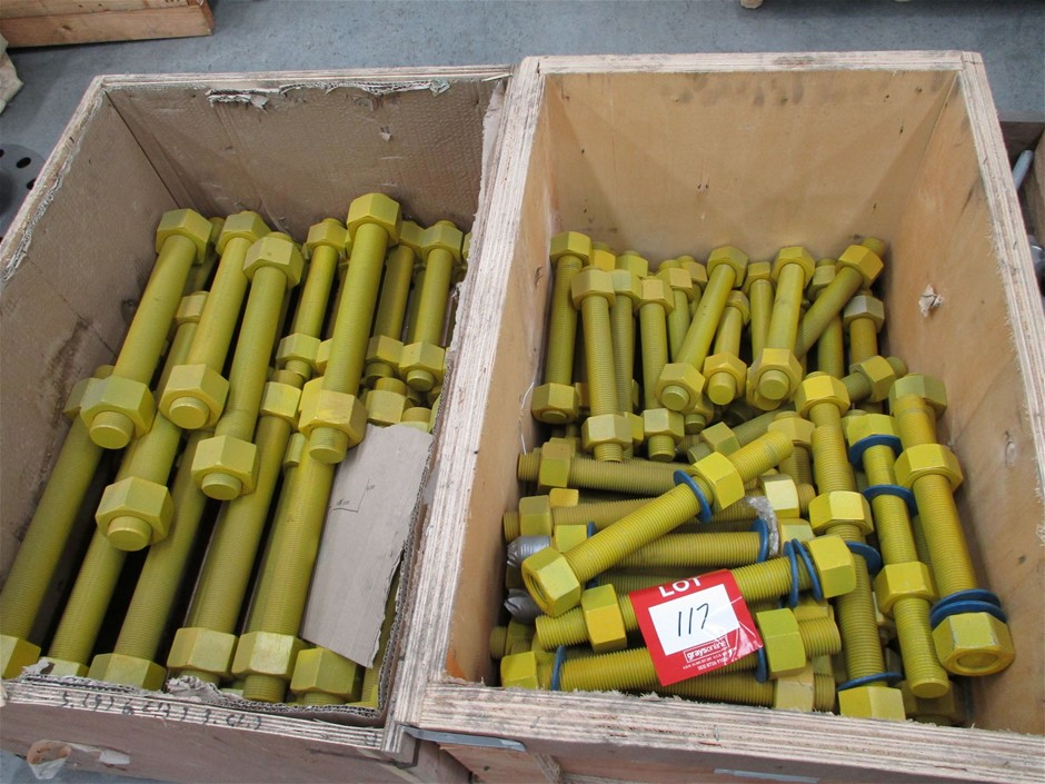 Boxes of All Thread Bolts with Nuts