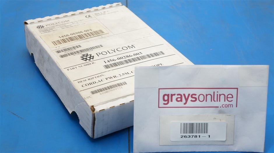 Polycom 2.5M AC Power Power Cord 1456-00286-003