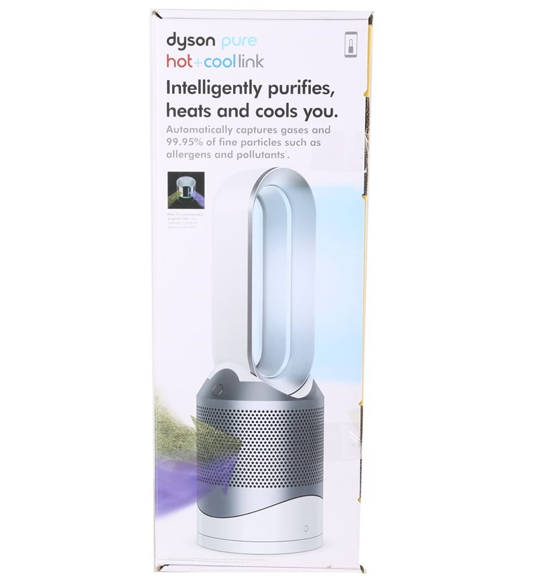 DYSON Pure & Hot Cool Purifying Fan Heater & Cooler, Model HP04. (SN:CC3984