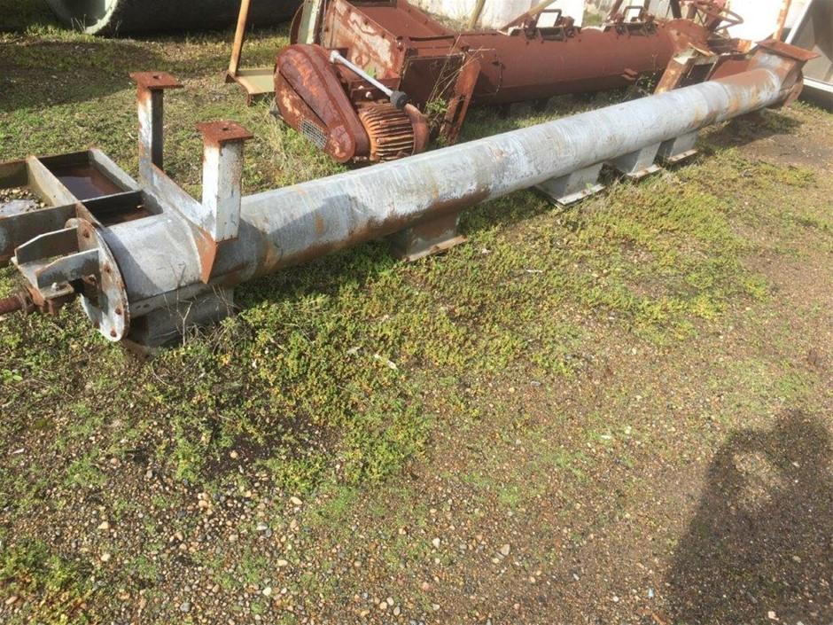 Screw Conveyor - Approx. 250mm Dia x 5m