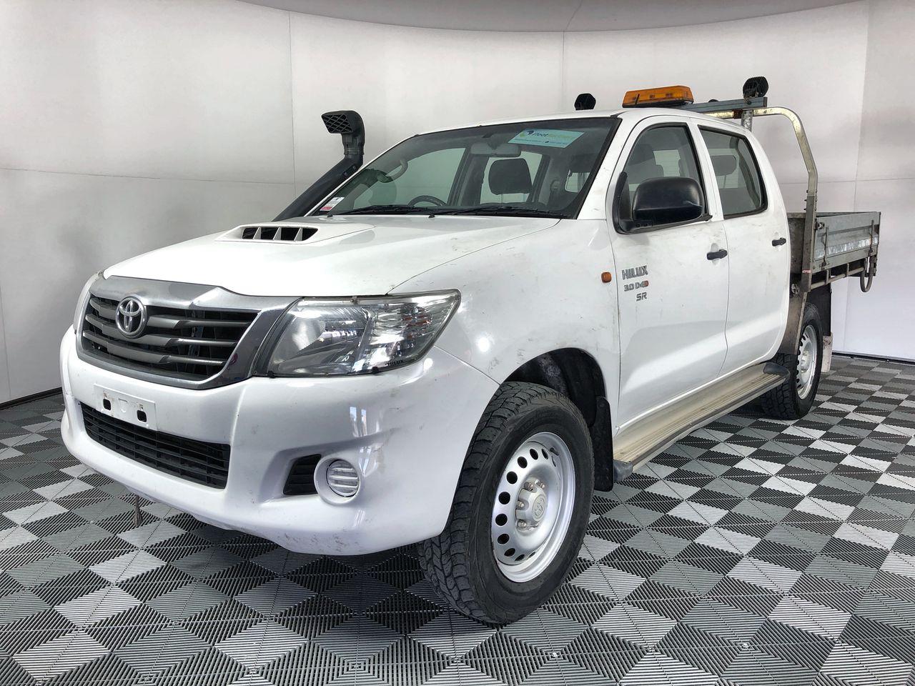 2015 Toyota Hilux SR (4x4) KUN26R Turbo Diesel Automatic Crew Cab Chassis