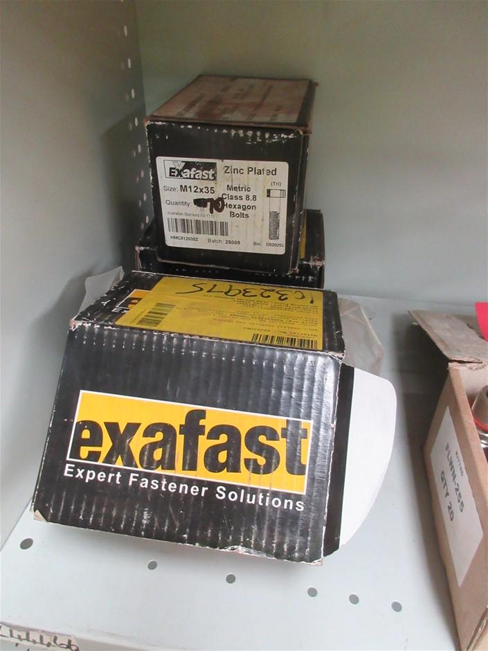 200x Exafast M12x35 Hexagon Bolts