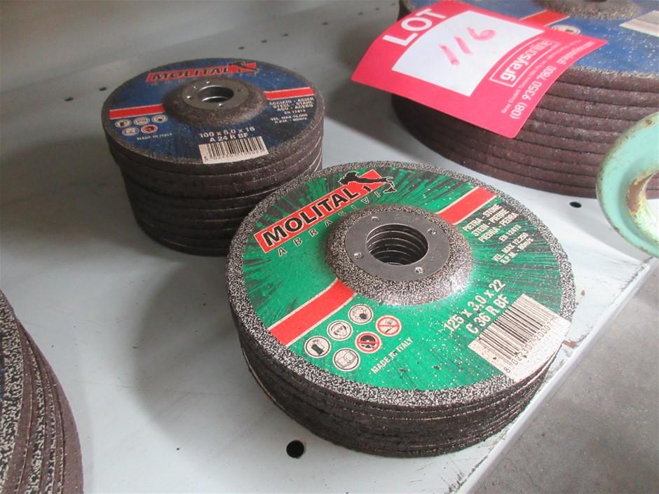 Assorted Molital Cutting/Grinding Discs