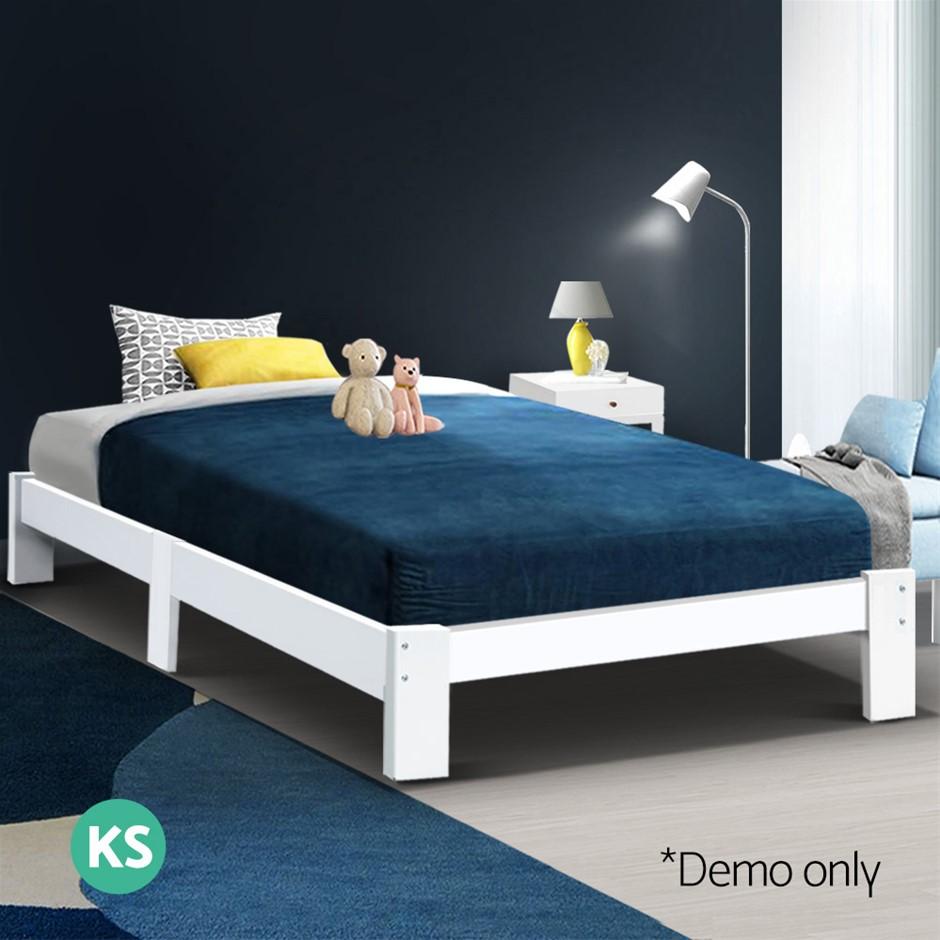 Artiss King Single Size Wooden Bed Frame Mattress Base Timber Platform JADE